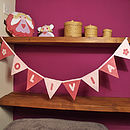 Personalised Pink Name Bunting with Flower Motif