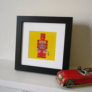 Miniature Tin Toy Robot Print