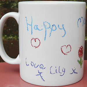 Your Child's Artwork Handprinted Mug - kitchen