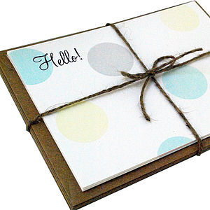Personalised 'Hello!' Correspondence Cards