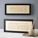 Personalised Dictionary Engraving Gift