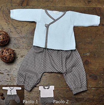 Baby Jumper And Baggy Trouser Outfit
