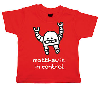 Personalised Robot T Shirt