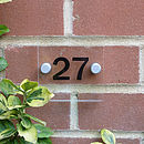 Acrylic Door Number Sign