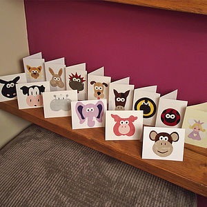 Animal Character Gift Cards - birthday cards