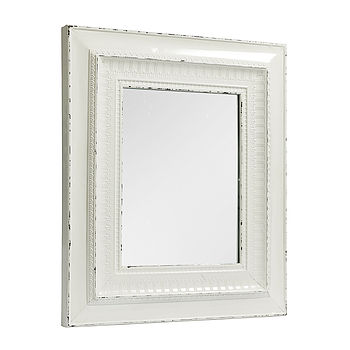 Nordal rustic painted mirror white
