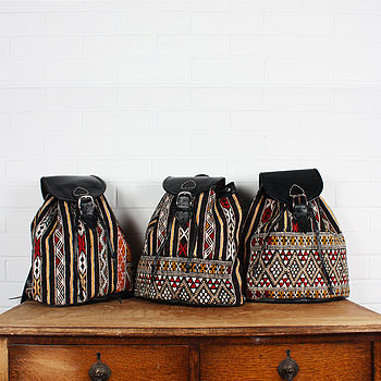 Leather And Kilim Tiznit Backpack