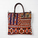 Leather And Kilim Bouznika Tote