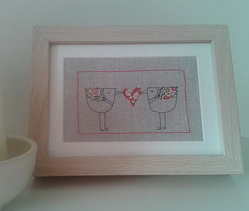 Handmade Love Birds Picture