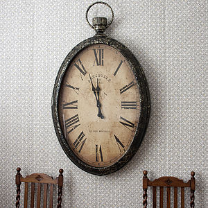 Huge Oval Wall Clock - clocks