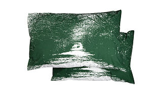 Set Of Two Forest Walk Pillowcases - bedroom