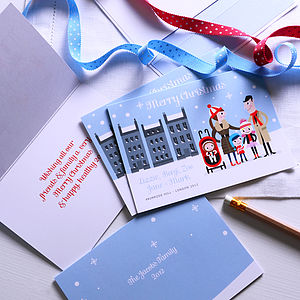 15 Personalised Snowy Character Family Cards - cards