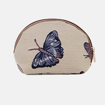 Butterfly Print Tapestry Make Up Bag