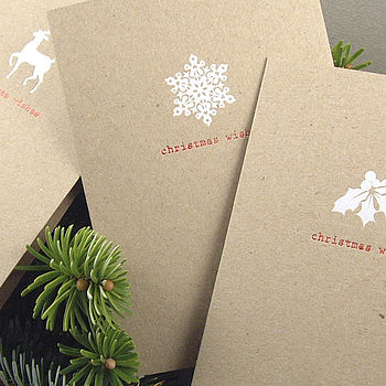Pack Of Six Festive Christmas Cards