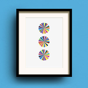 Carousel Three Print - modern & abstract