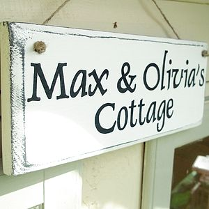 Vintage Style Personalised House Sign - room decorations