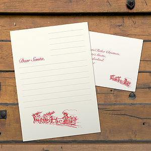 A Letterpress Letter To Santa - christmas cards