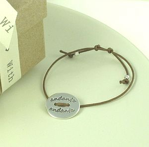 Personalised Story Button Friendship Bracelet - men's jewellery