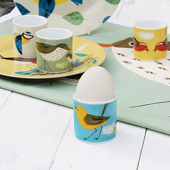 Set Of Four Birdy Egg Cups