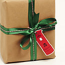 Christmas Post Box Gift Tag