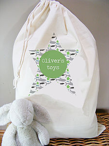 Boys Personalised Toy/Laundry Sack