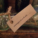 Personalised Message In A Vintage Bottle