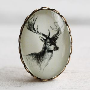 Stag Brooch - women's jewellery