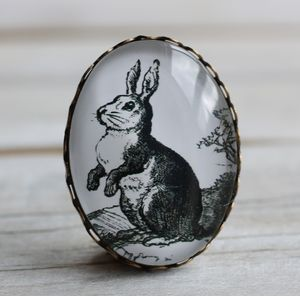 Rabbit Brooch - women's jewellery