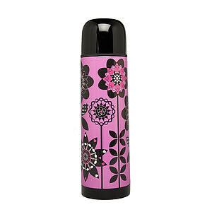 Poppy Polka Flask - home