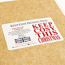 Christmas Sack 'Keep Cosy This Christmas'