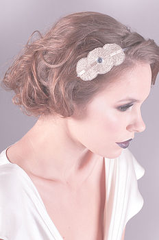 Florence Deco Silver Bridal Headpiece