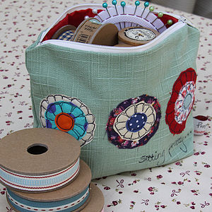 Big Make Up Bag Rosettes - bags & purses