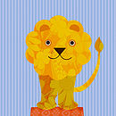 Personalised Circus Lion Print