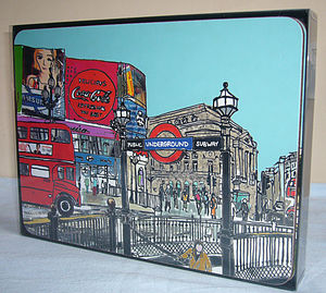 Set Of Six London Placemats