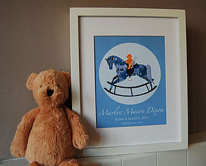 Personalised New Baby Or Christening Print - canvas prints & art for children