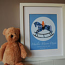 Personalised New Baby Or Christening Print