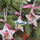 Handmade Decoupage Christmas Star Decorations
