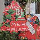 Handmade Decoupage Bell Christmas Decorations