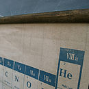 Wooden baton used to hang the Periodic Table