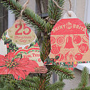 Handmade Decoupage Bell Christmas Decorations