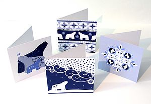 Wintery Polar Bear Cards - cards & wrap