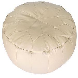 Morroccan Star Pouffe Easy Clean Faux Leather - footstools & pouffes