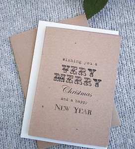 'A Very Merry Christmas' Christmas Card - cards & wrap