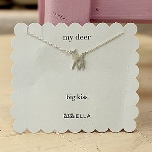 Tiny Silver Deer Necklace - charms, charm bracelets & necklaces