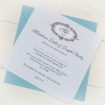 Venice Wedding Personalised Invitation