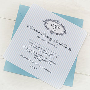Venice Wedding Personalised Invitation - parties