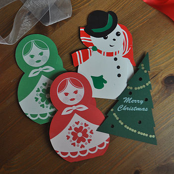 Pack Of Four Festive Fun Cards