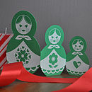 Russian doll in leaf green
