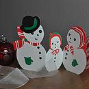 Snowman family design