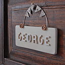 Antique Cream door sign